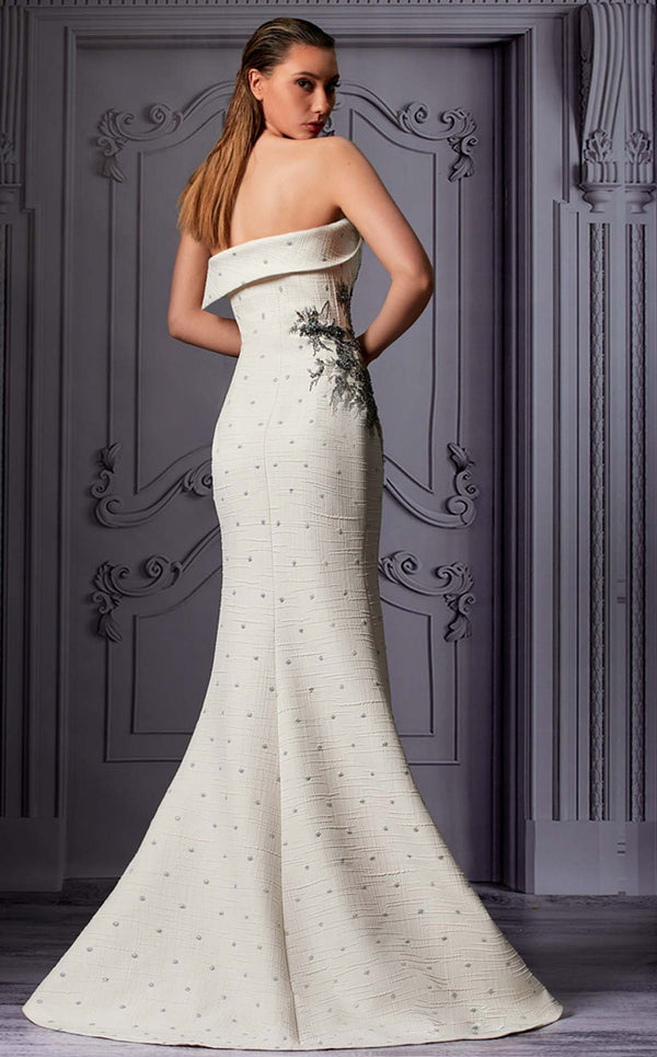 MNM Couture K3833 Dress Ivory