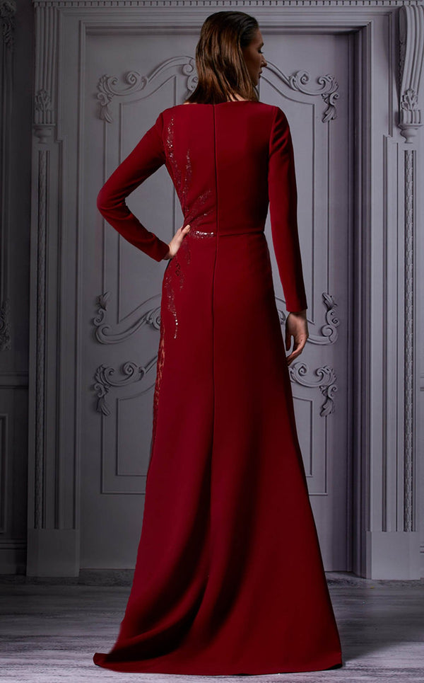 MNM Couture K3850 Dress Burgundy