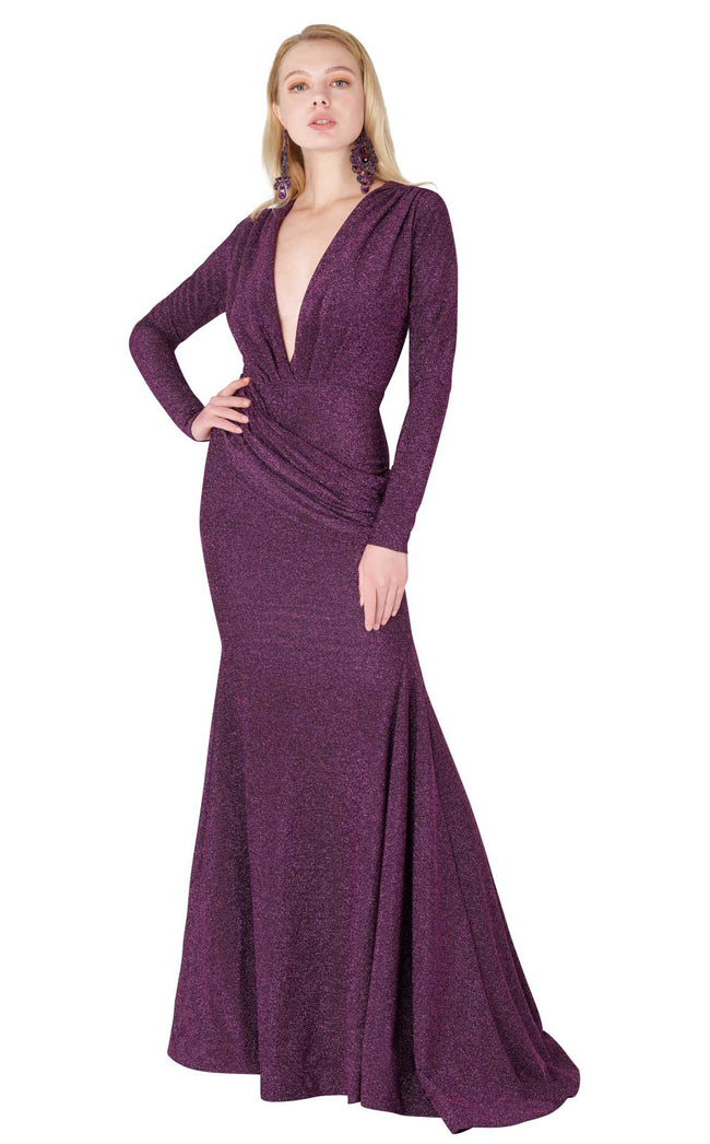 MNM Couture L0002B Purple-Silver