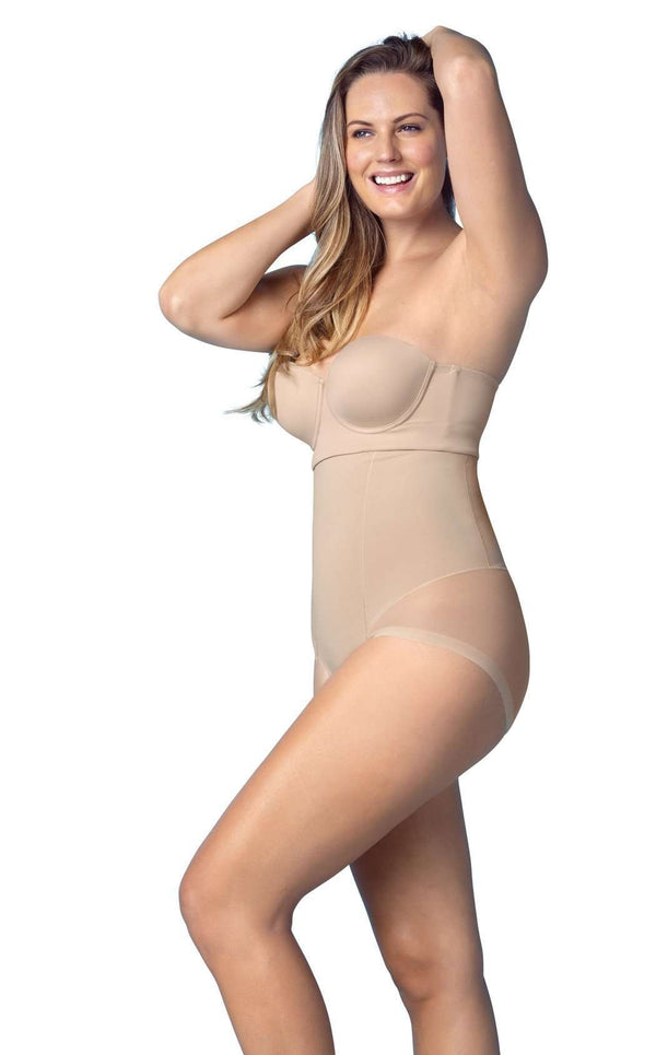 Leonisa 12811 Truly Invisible High Waist Bodysuit Tummy Shaper