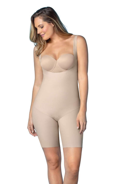 Leonisa 18483 Undetectable Edge Mid-Thigh Bodysuit Shaper