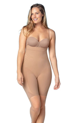 Leonisa 12807 Seamless High Waist Shapewear With Thigh Compression
