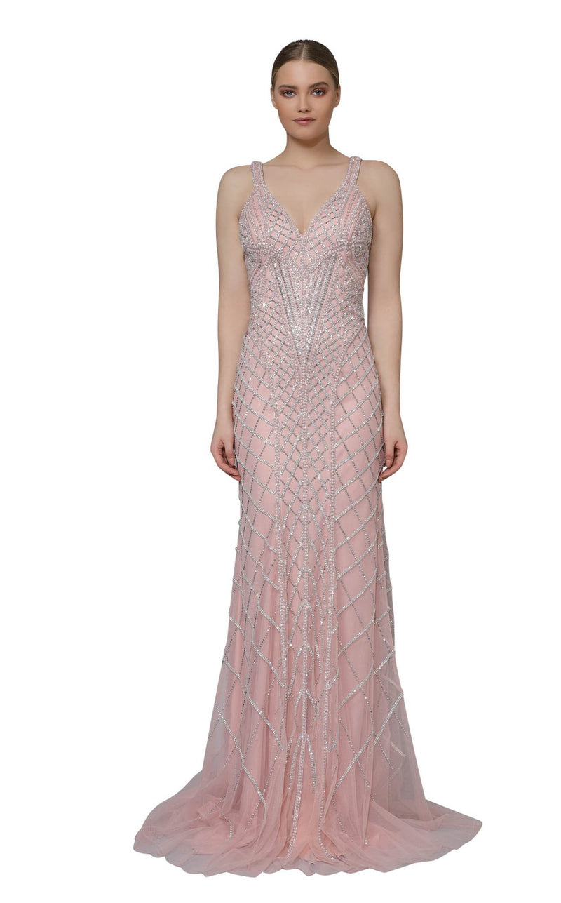 Modessa Couture M18001 Pink