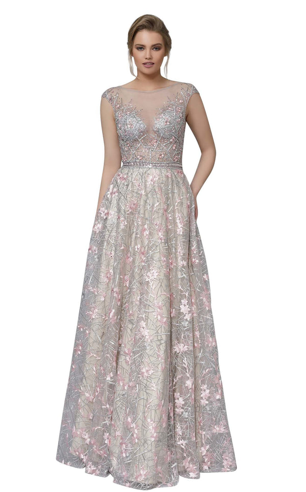 Modessa Couture M18002 Pink