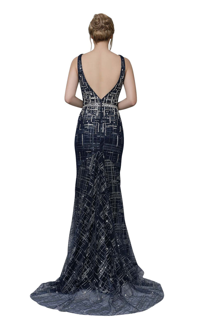 Modessa Couture M18005 Navy