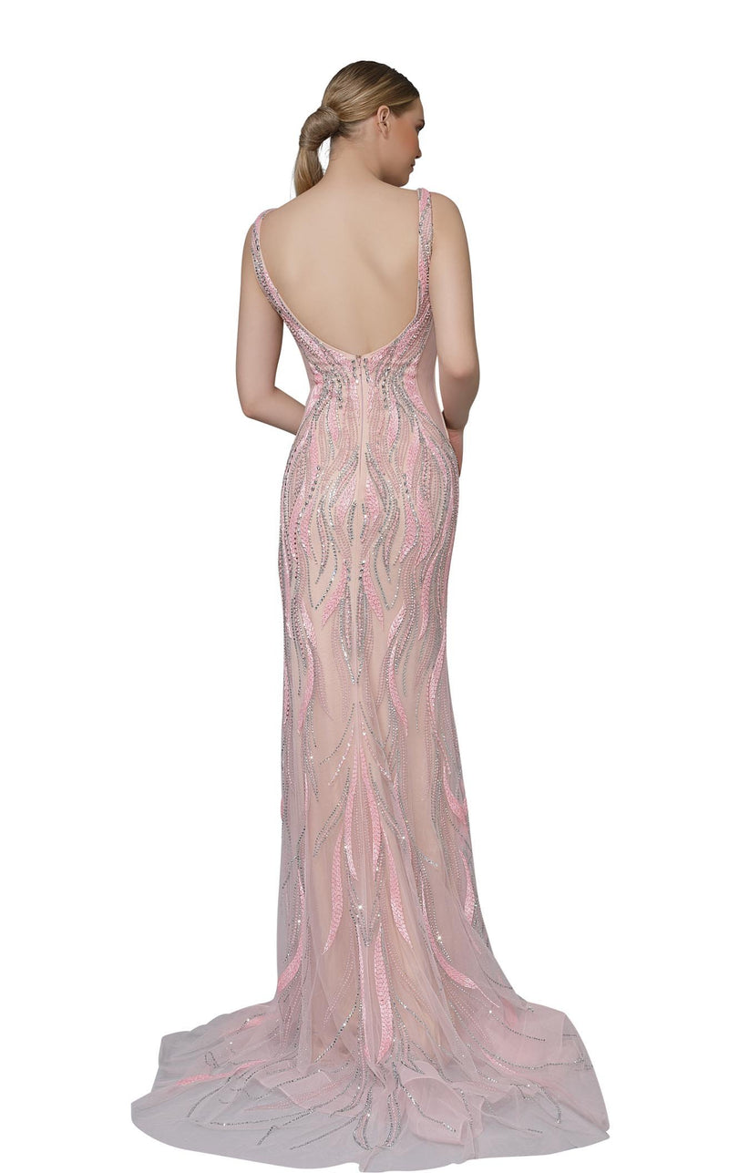 Modessa Couture M18007 Pink
