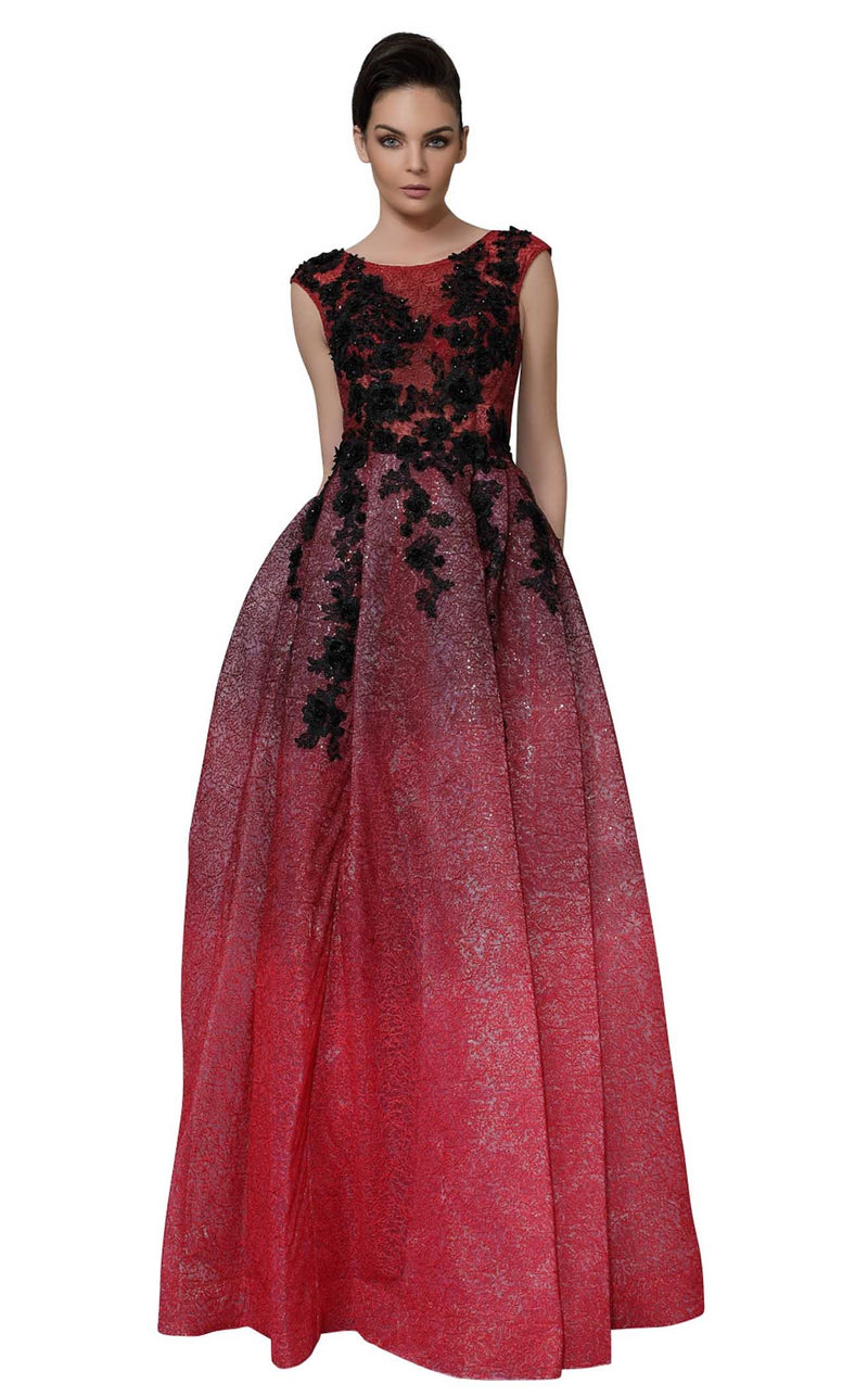 Modessa Couture M18020 Red
