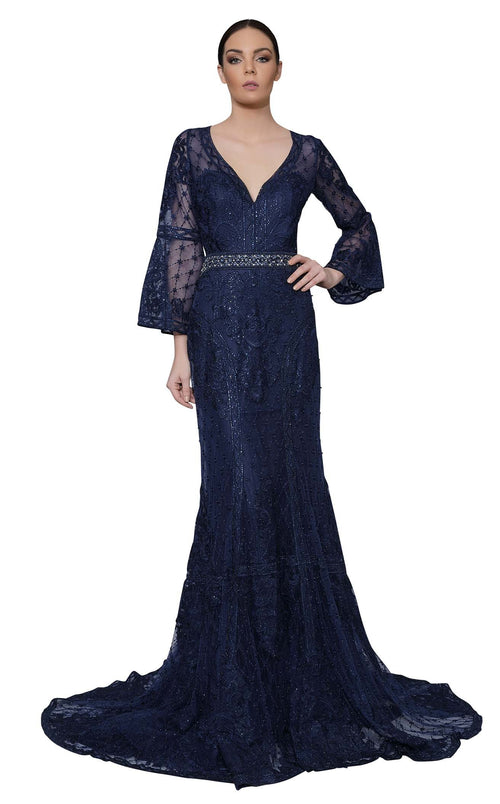 Modessa Couture M18021 Navy