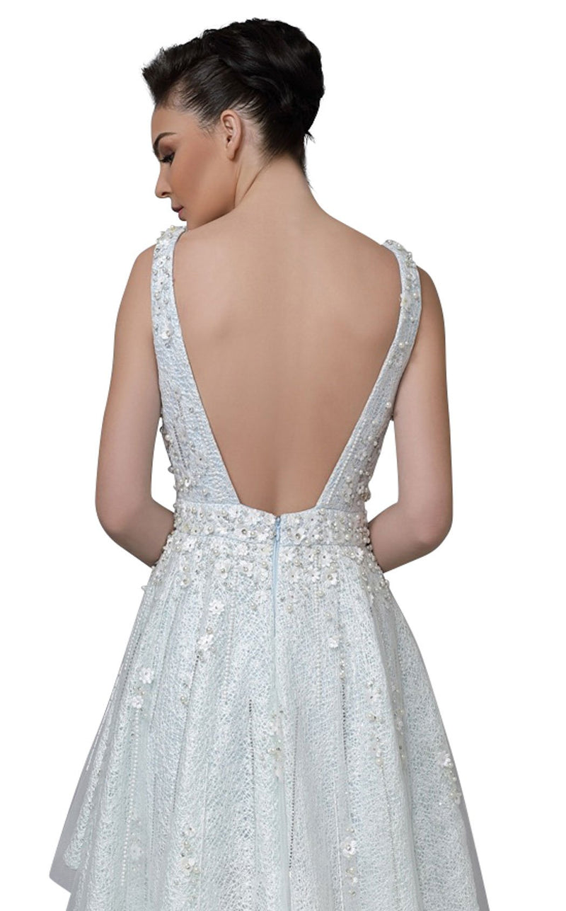 Modessa Couture M18022 Ice-Blue