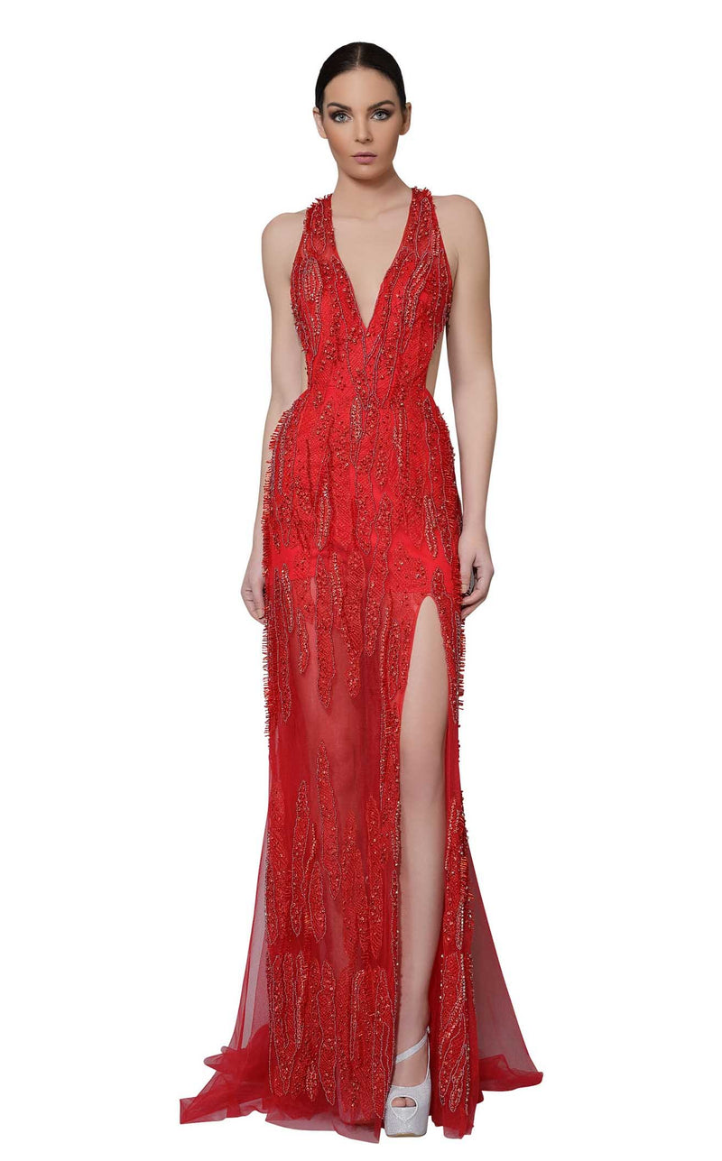 Modessa Couture M18025 Red
