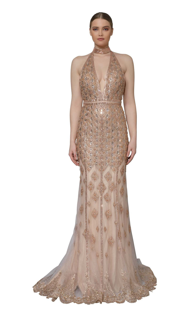 Modessa Couture M18030 Rose-Gold