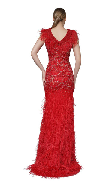 Modessa Couture M18035 Red