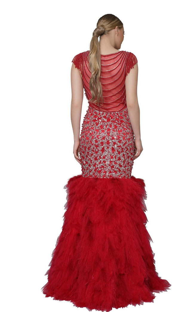 Modessa Couture M18036 Red