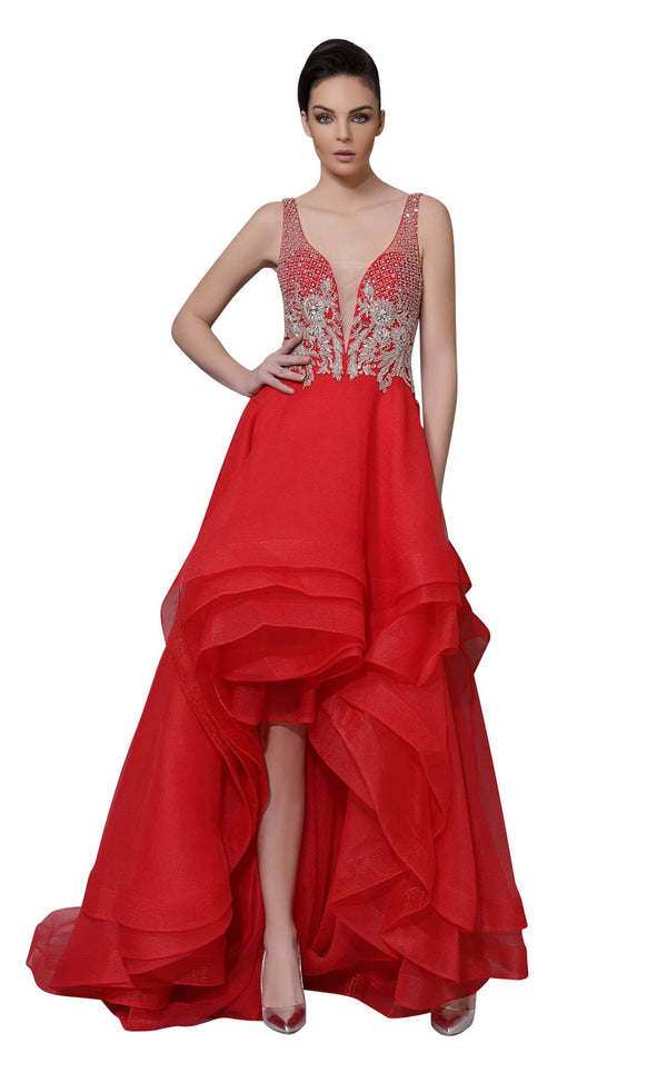 Modessa Couture M18038 Red
