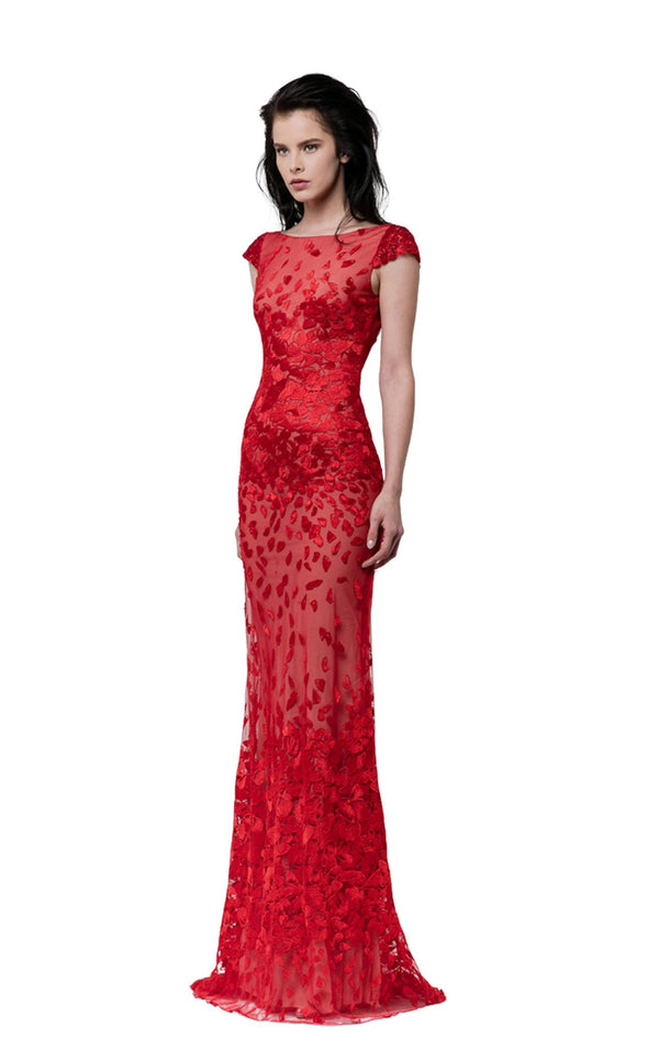 Revive by Tony Ward Maze Dress Red