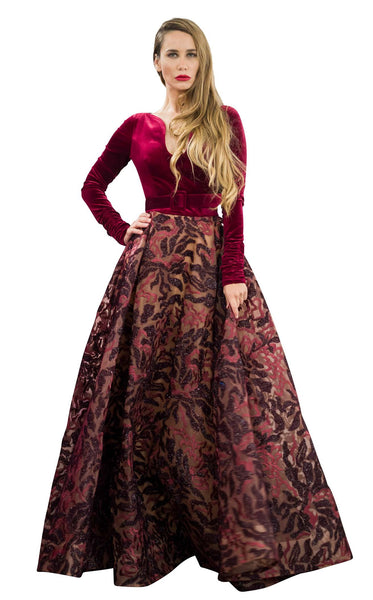 MNM Couture N0263 Burgundy