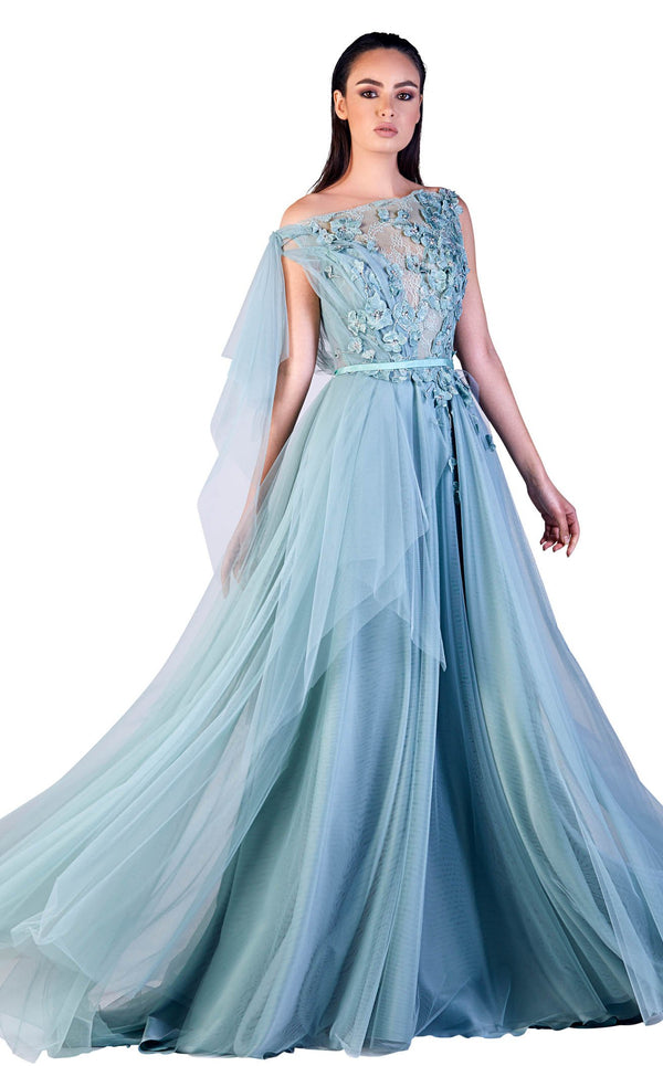 Gatti Nolli Couture OP5502 Dress Sky-Blue