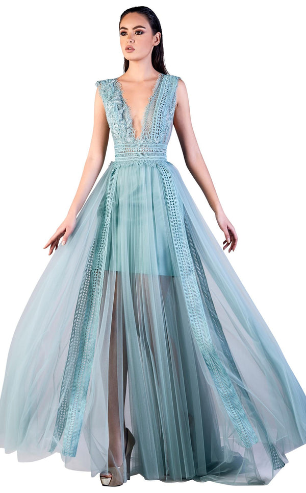 Gatti Nolli Couture OP5503 Dress Sky-Blue