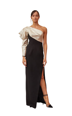 Gatti Nolli Couture OP5349 Dress Black-Beige