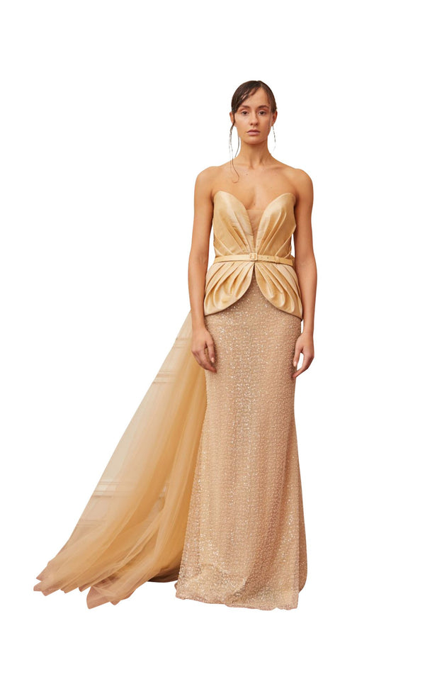 Gatti Nolli Couture OP5357 Dress Gold