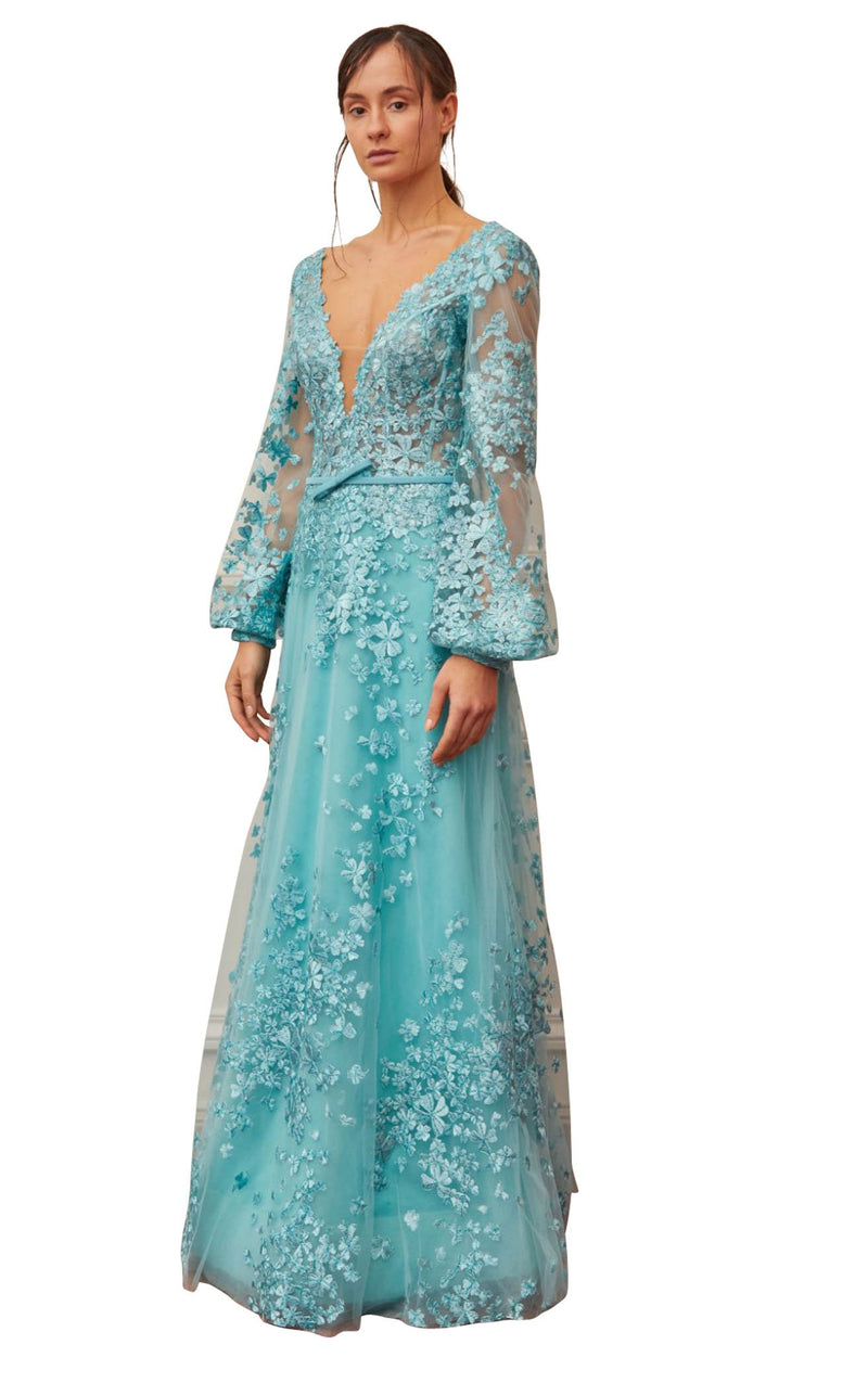 Gatti Nolli Couture OP5375 Dress Aqua