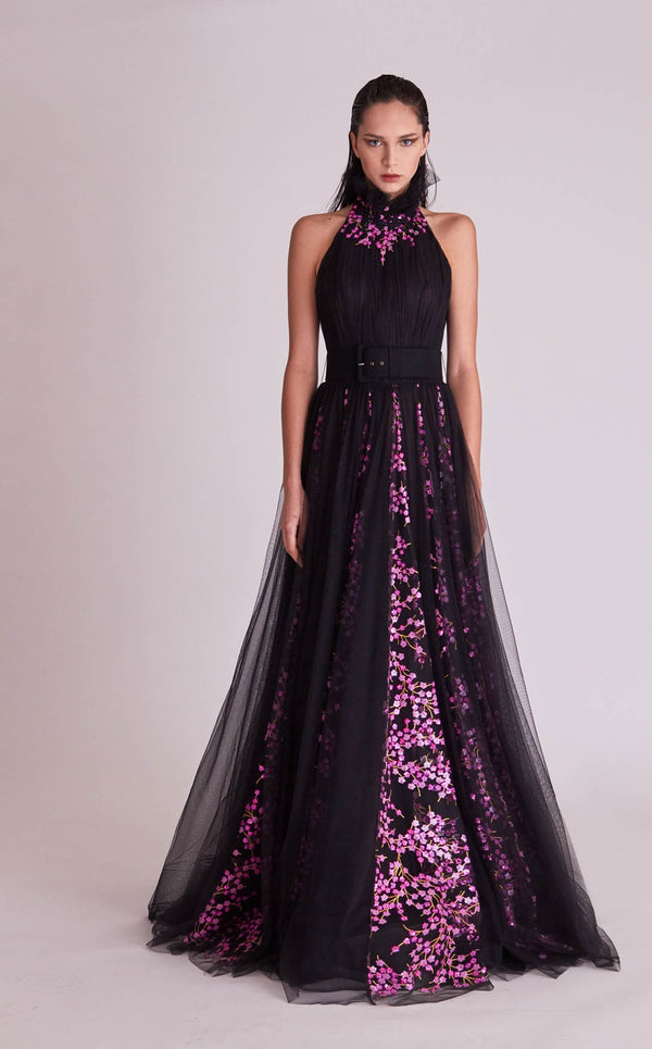 Gatti Nolli Couture OP5675 Dress Black-Purple