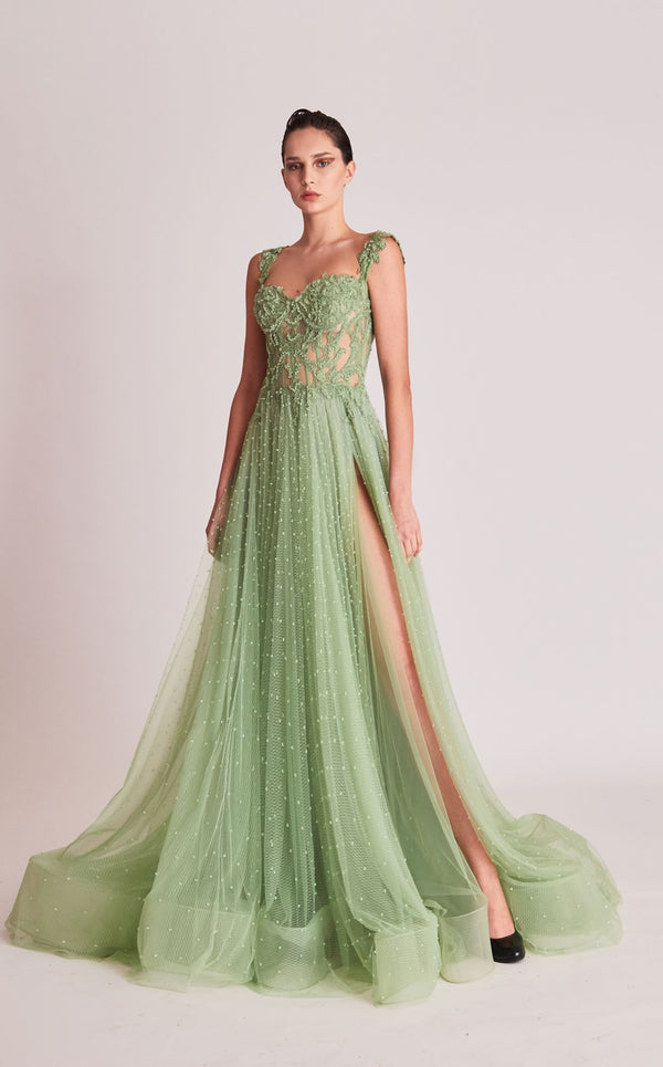 Gatti Nolli Couture OP5682 Dress Light-Green