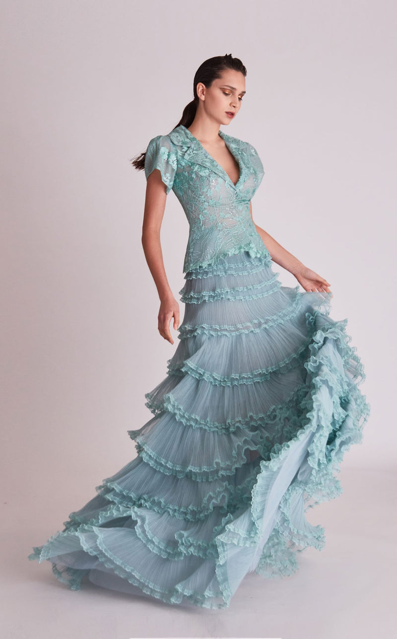 Gatti Nolli Couture OP5717OP5718 Dress Pale-Aqua