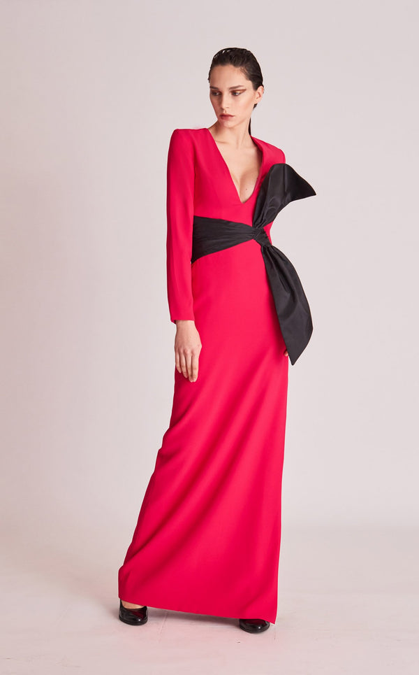 Gatti Nolli Couture OP5744 Dress Fuchsia-Black