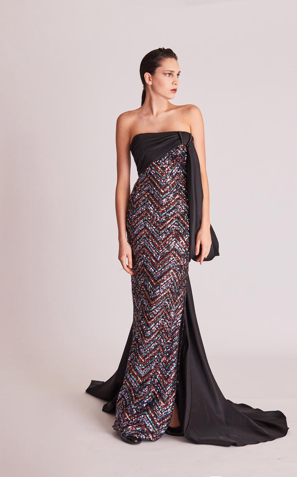 Gatti Nolli Couture OP5747 Dress Black-Multi