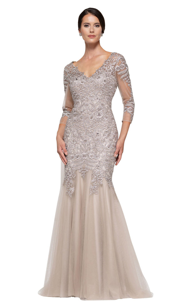 Rina Di Montella RD2682 Dress Taupe