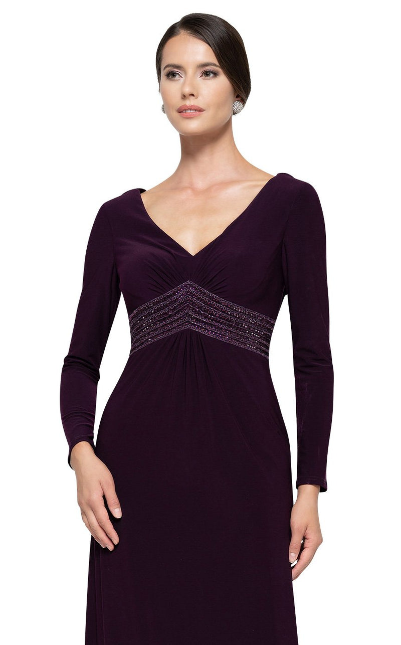 Rina Di Montella RD2691 Dress Aubergine