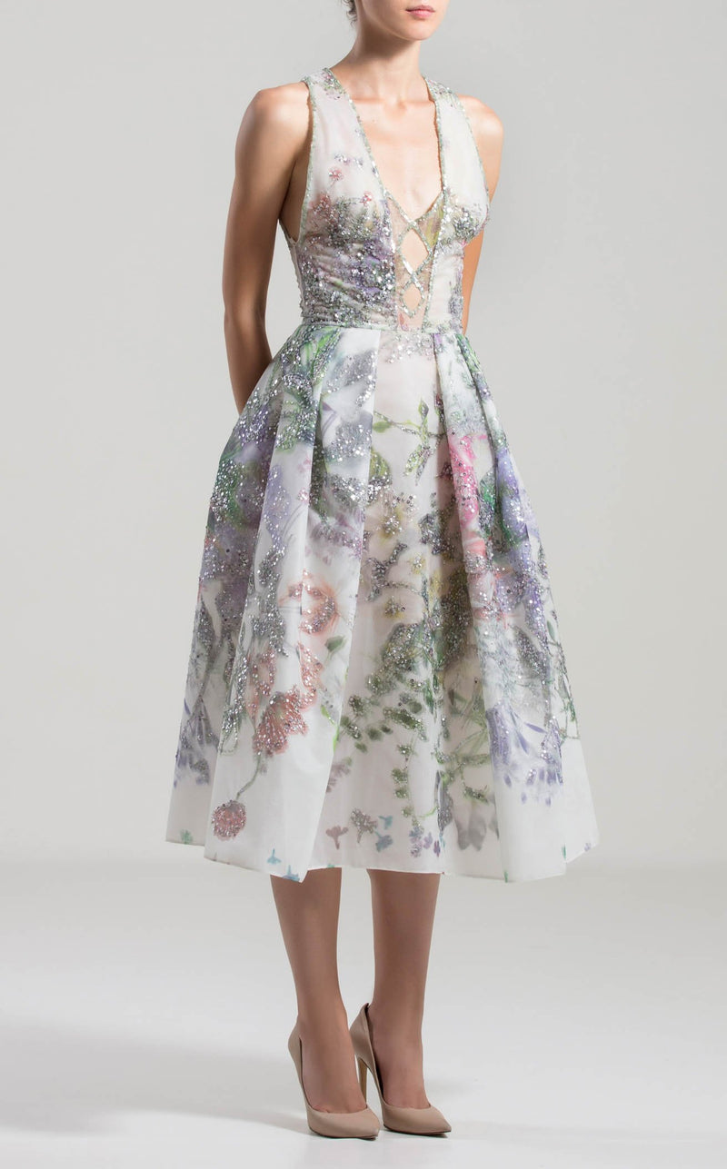 Saiid Kobeisy RTWSS2005 Dress Floral-Print