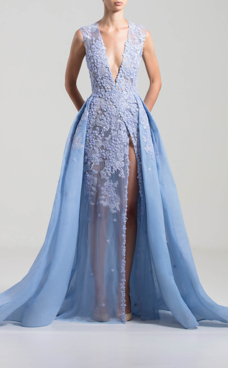 Saiid Kobeisy RTWSS2019 Dress Periwinkle