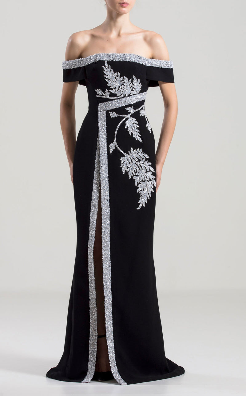 Saiid Kobeisy RTWSS2044 Dress Black-White