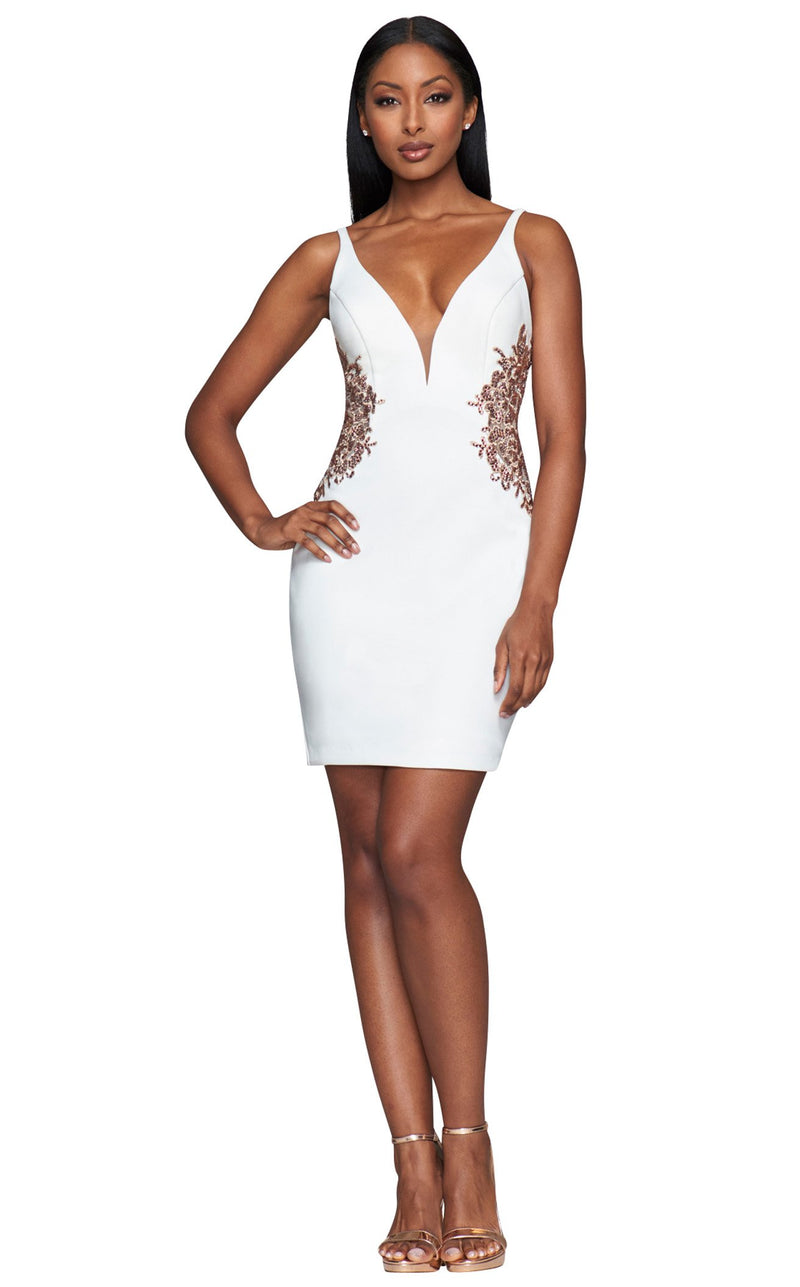 Faviana S10371 Dress Ivory-Rose-Gold