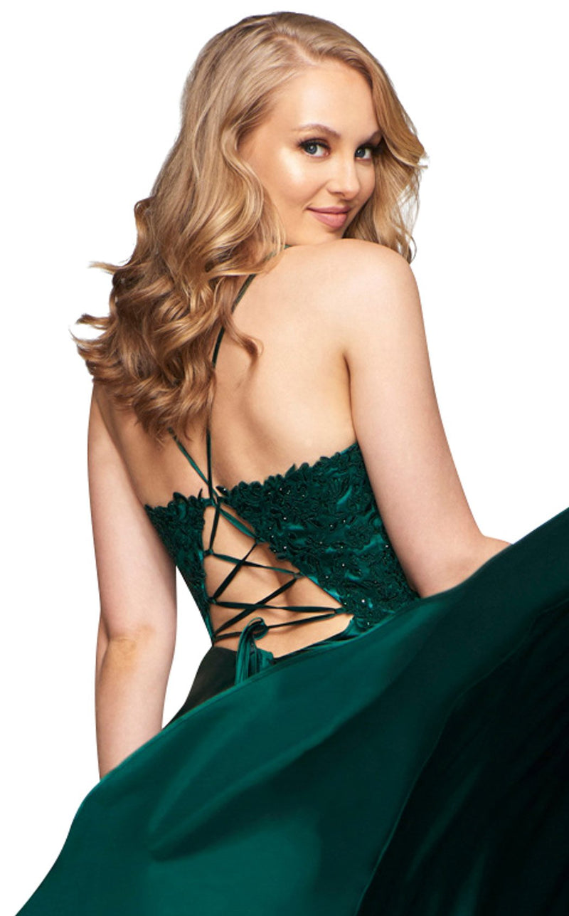 Faviana S10400 Dress Deep-Green