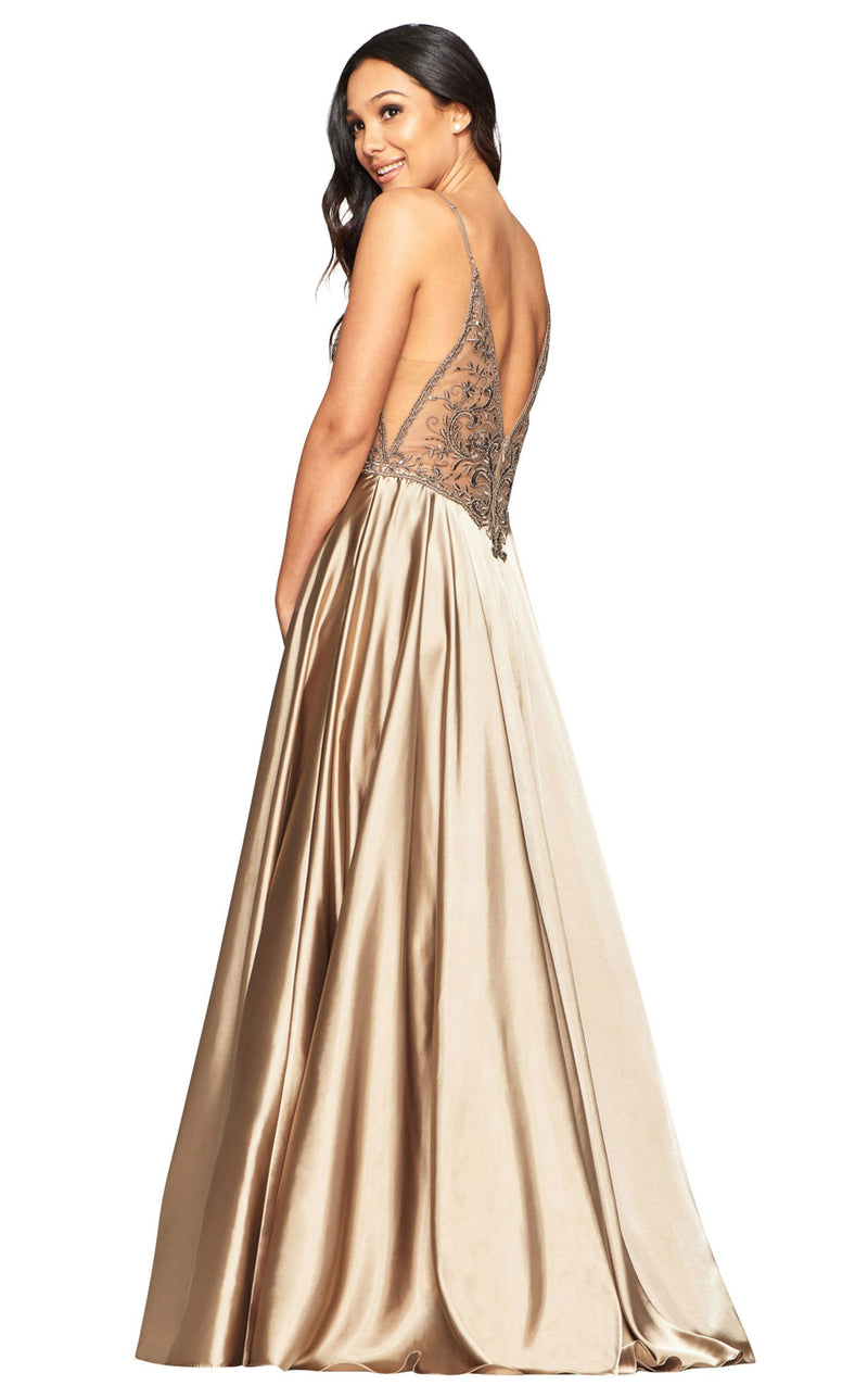 Faviana S10401 Dress Mocha