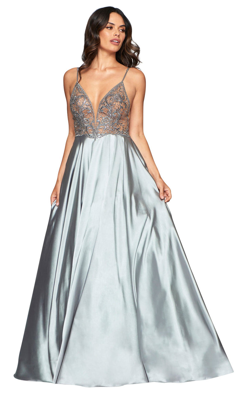 Faviana S10401 Dress Silver