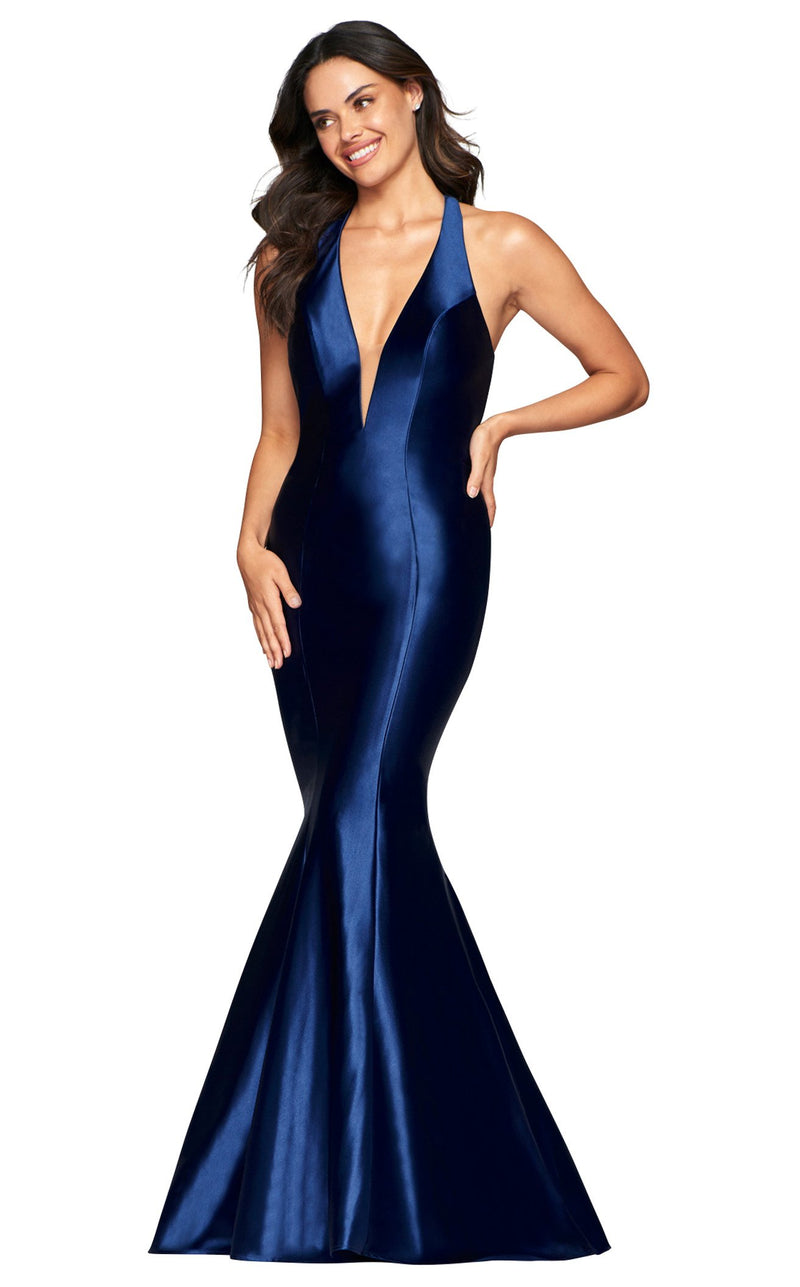 Faviana S10412 Dress Navy