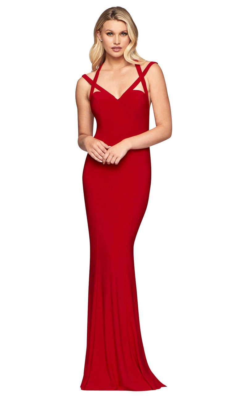 Faviana S10417 Dress Red