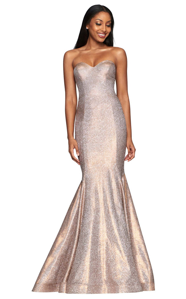 Faviana S10426 Dress Copper