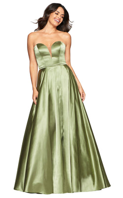 Faviana S10428 Dress Light-Ivy