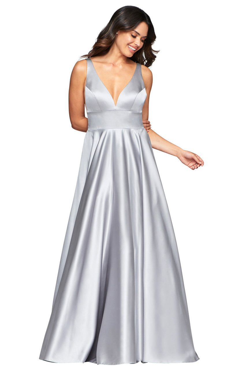 Faviana S10474 Dress Silver