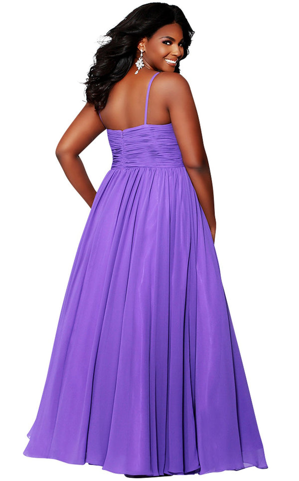 Sydneys Closet SC7071 Dress Purple