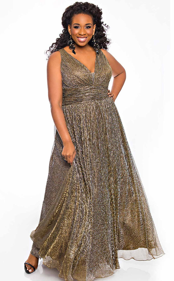 Sydneys Closet SC7284 Dress Bronze
