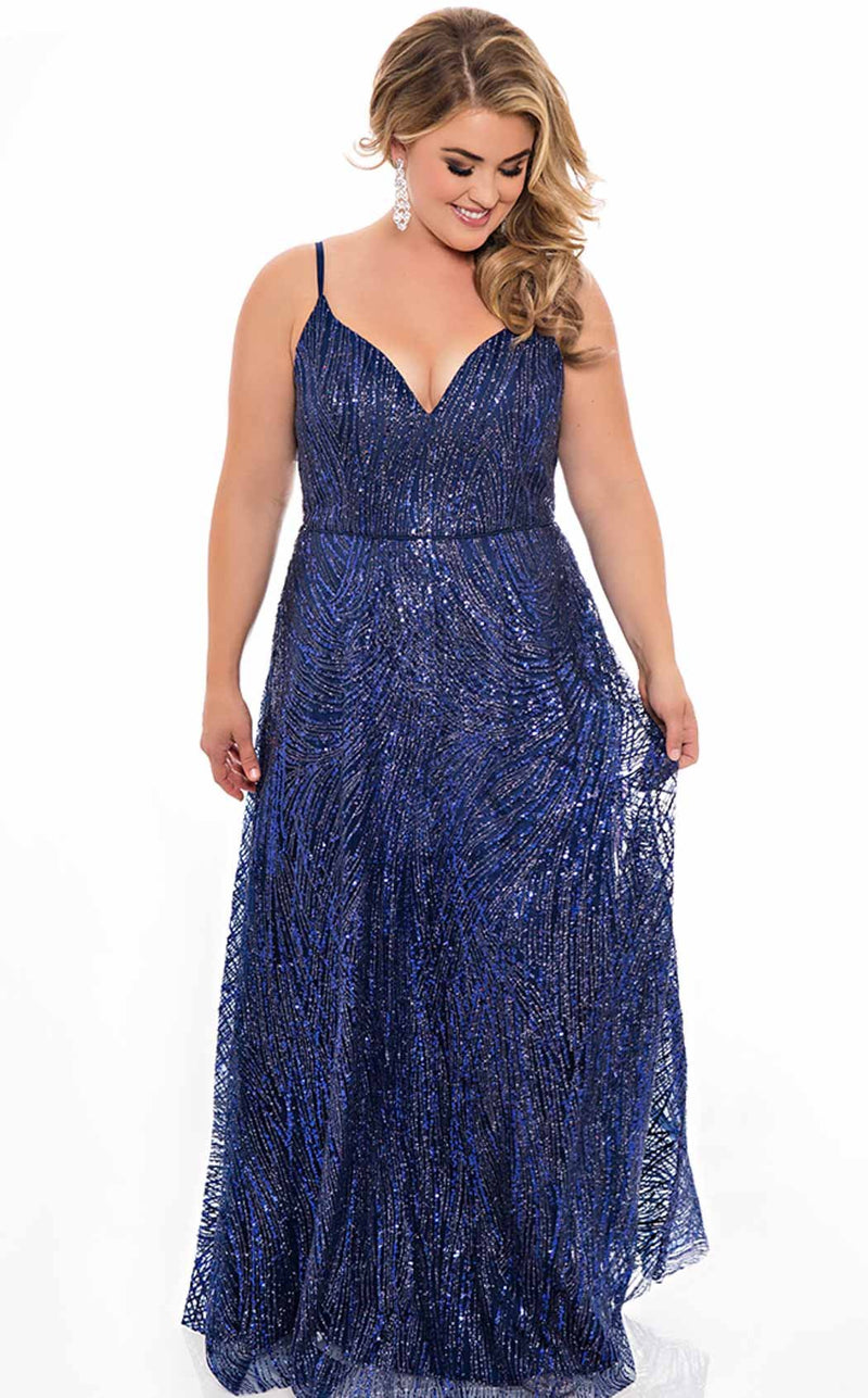 Sydneys Closet SC7286 Dress Midnight-Blue
