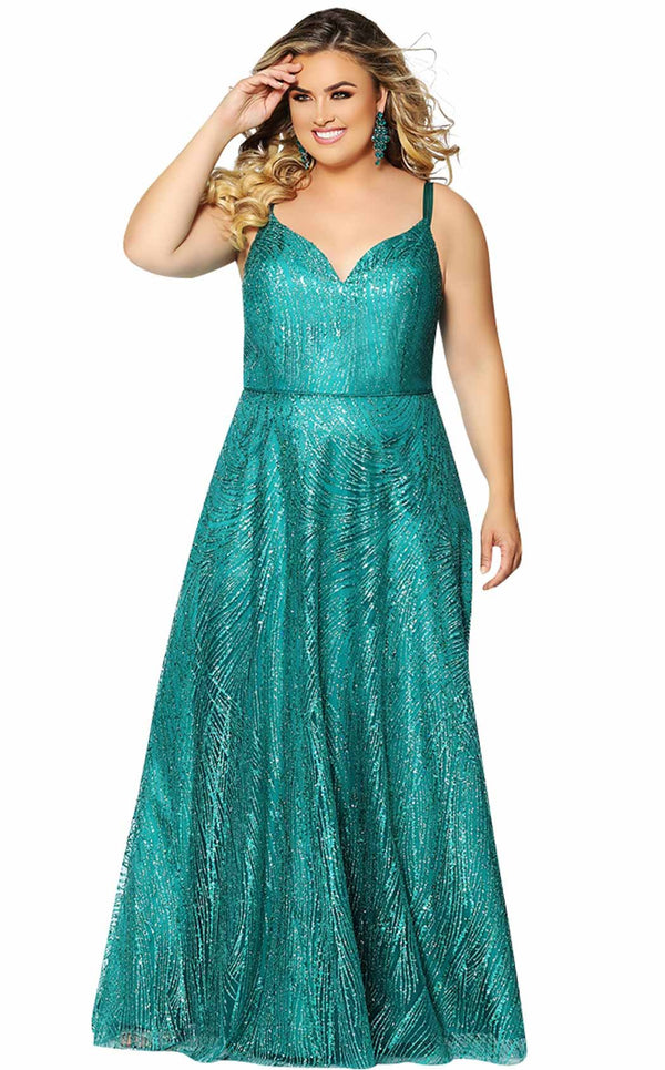 Sydneys Closet SC7286 Dress Emerald
