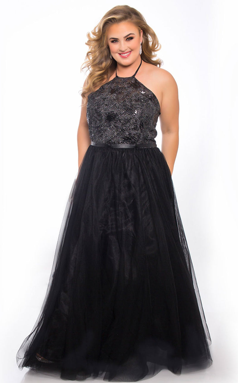 Sydneys Closet SC7297 Dress Onyx