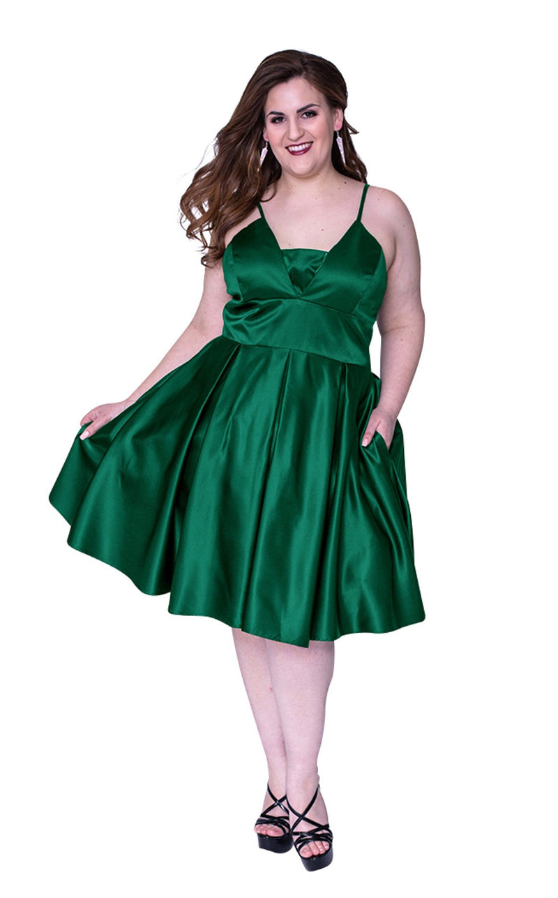 Sydneys Closet SC8092 Dress Emerald